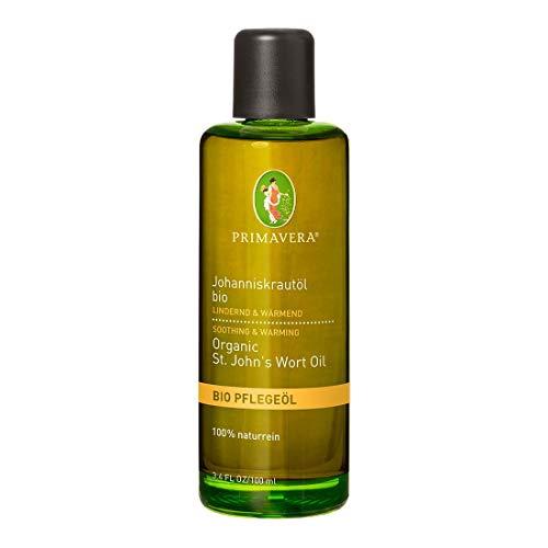 PRIMAVERA Pflegeöl Johanniskrautöl bio 100 ml - Naturkosmetik, Pflanzenöl, Hautöl - beruhigend, wärmend - rissige Haut - vegan