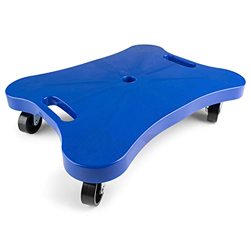 """Champion Sports - CHSPGH1216 Plastic Scooter Board with Contoured Handles, Blue , 12"""" x 16"""""""