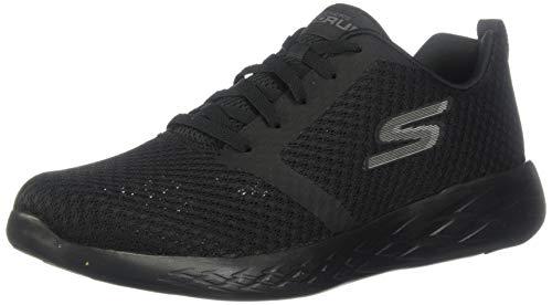 Skechers Go Run 600, Zapatillas sin Cordones para Hombre, Negro (Black BBK), 45.5 EU