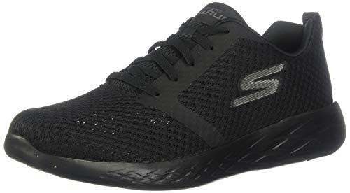 Skechers Men's GO Run 600-CIRCULATE Sneaker, Black, 8 M US