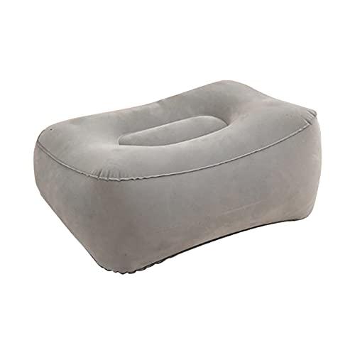 Reposapiés Almohada inflable alfombrillas de reposapiés al aire libre almohadas suaves almohadas camping portátil alfombra flocado CLORURO DE POLIVINILO Alfombrillas inflables del pie de las alfombras