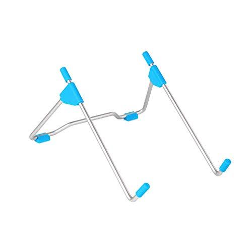 Opvouwbare laptopstandaard, verstelbare notebookstandaard, geventileerde laptophouder compatibel met MacBook Air Pro, Dell XPS, Microsoft, HP, Lenovo More laptops tot 17 inch (blauw)