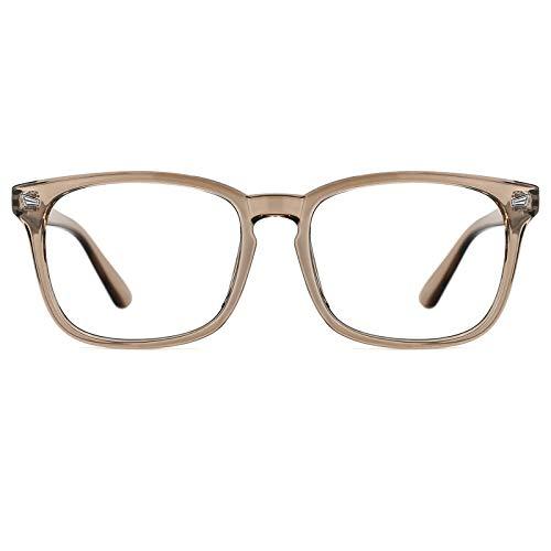 TIJN Retrò Quadrato Occhiali Da Vista Telaio Ottico Senza Prescrizione Occhiali Telaio con Lente