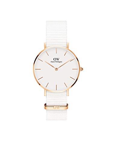 Daniel Wellington Petite Dover, Reloj Blanco/Oro Rosado, 32m