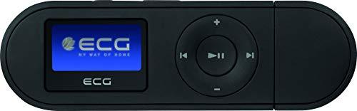 ECG PMP 20 4GB Black MP3-Player – MP3, WMA, WAV; Interner Speicher 4 GB; Diktiergerät; Kopfhörer-Eingang; USB 2.0; In-Ear-Kopfhörer Schwarz