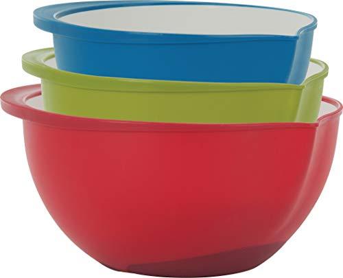 Trudeau Set of 3 Mixing Bowls, 2-Tone Color
