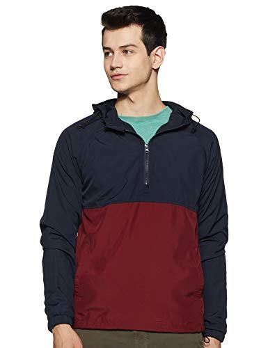Amazon Brand – Symbol Men's Pullover Synthetic Windbreaker
