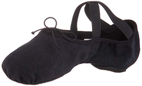 Bloch Dance Womens Zenith Ballet Flat, Black, 4 C US