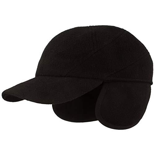 Breiter - Winter Baseball-Cap | Schirmmütze | Baseball-Kappe mit Teflon® Membran & ausklappbarem Ohrenschutz – aus Wolle mit Steppfutter