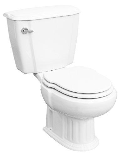 Cornat GRECIA Nostalgie WC-Kombination mit WC-Sitz und Spülkasten, weiss