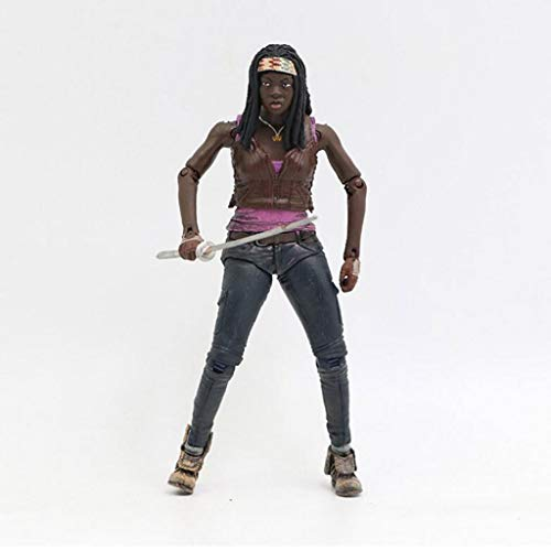 MXD The Walking Dead Figuren: Michonne Action-Figur Messer Schwert Sammlerfigur Puppe Ornamente PVC, 15 cm