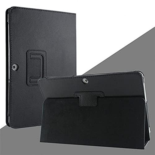 LIUCHEN Funda de tableta10.1 GT-P5100 P5110 P5113 P7500 P7510 Funda con Tapa con Soporte de Cuero PU Funda Tipo Folio para Samsung Galaxy Tab 2 10.1 P5100 Funda, P5100 P5110 Negro