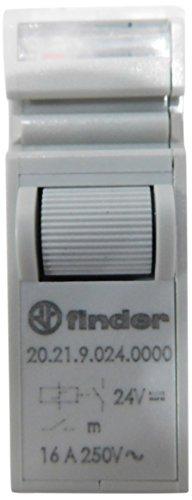 Finder 20.21.9.024.0000 Modular telerruptor 24 VDC 1 NO 16 A, gris