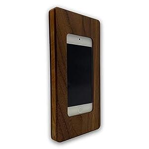 Apple iPod touch Gen. 5|6|7 NobleFrames Wandhalterung aus Nussholz