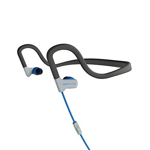 Energy Sistem Earphones Sport 2 Blue mic (Sportkopfhörer mit Kopfbügel, Schweiß- und Spritzschutz, Wiedergabesteuerung, Mikrofon und Audiokabel) Blau