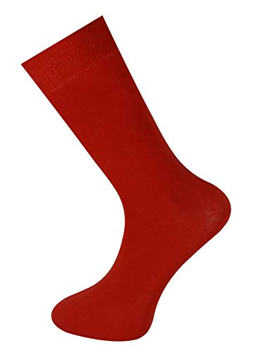Mysocks Calcetines color liso hombres mujeres rojo