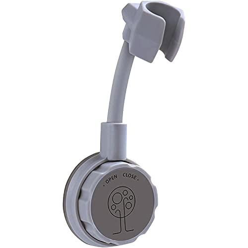 Quesuc Saugnapf Duschkopfhalter, Wand Saugduschkopfhalter, Handbrausehalter, geeignet für Badezimmer, Hotels, Badezentren (keine Nägel und kleberfrei) Grau
