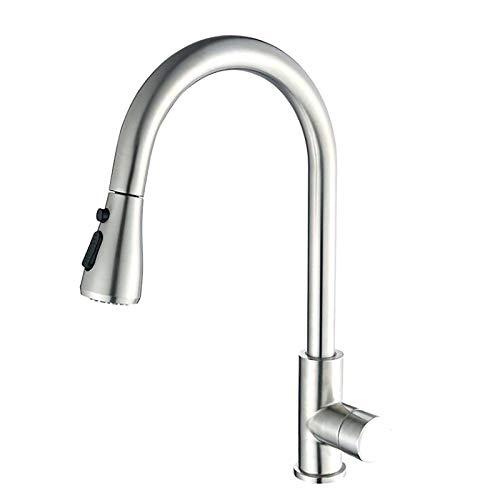 Con Smart Sensor Touch Switch Faucet, Cocina De Grifo Cepillado Extensible, 2 Modos De Salida De Agua Aerosol