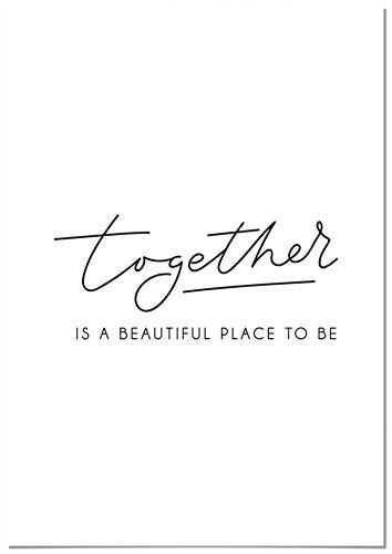 Panorama Póster Together 30x21cm - Impreso en Papel de 250gr - Cuadro Frases Positivas - Póster Pared - Cuadros Decoración Salón - Cuadros para Dormitorio - Póster Decorativos