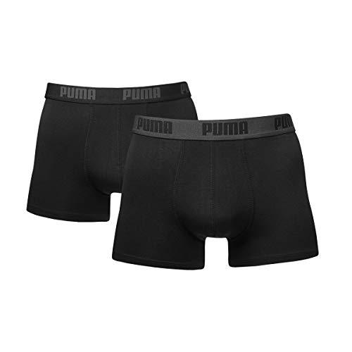 PUMA Herren Basic Boxer Unterwäsche, Black / Black, XL