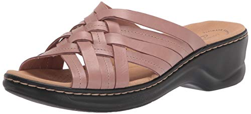Top 10 best selling list for ladies leather dusty pink flats slide shoes