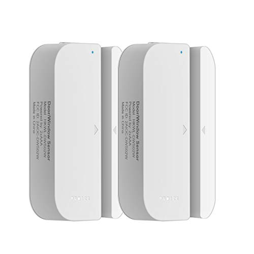 PUMICE WiFi Door/Window Sensor,2018 Wireless Smart Security Alarm Doorbell Magnet Contact Sensor with Easy App for Home Office Business Burglar Alert,Compatible with Alexa Google Home IFTTT (2 Pack)