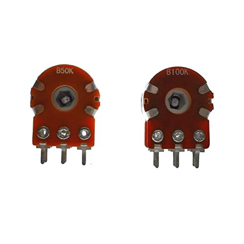 YSDSPTG Potentiometer 1PCS RK16 20MM Rotary Potentiometer 50K 100K 50KBX2 100KBX2 Audio Volume Control Pot New WH148 (Resistance : 50K Ohm)