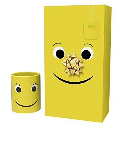 Confezione Regalo Lipton Yellow Label con Tazza, Tè Nero, Regalo per Lei e per Lui, Regalo di Compleanno, Regalo di Natale, Regalo di Pronta Guarigione, 42 Bustine Incartate Singolarmente