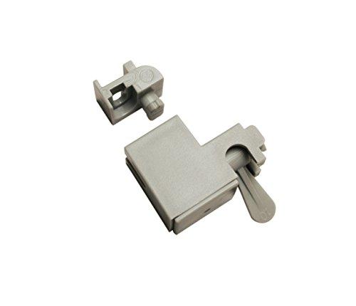 Gardinia Wand-und Deckenträger grau 3, Aluminium, 3 x 2 x 3 cm, 4-Einheiten