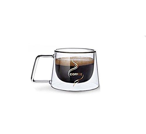 , aus Borosilikatglas, Kaffee-Tasse Becher, Tasse