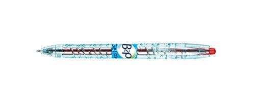 Stylo à bille pointe moyenne encre gel rétractable Begreen encre rouge 0,7mm B2P