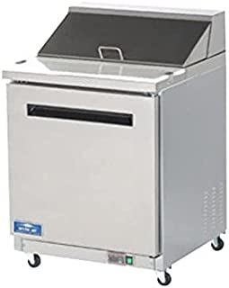 Arctic Air AMT28R 29-Inch 1-Door Mega Top Refrigerated Sandwich/Salad Prep Table, 115v
