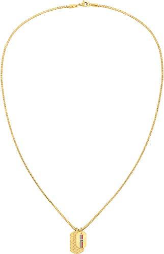 Tommy Hilfiger Herren Halskette mit Anhänger Casual Gold