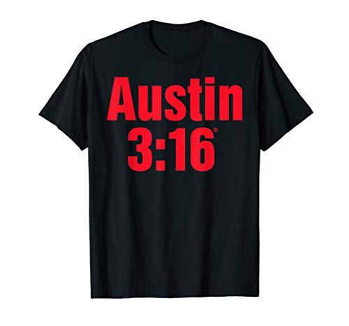 Herren WWE Stone Cold Steve Austin Red 316 T-Shirt