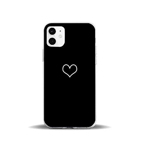 Carcasa para iPhone 11 pro max xs max xs xr 6s 6 7 8 plus se 2020 5s 5 transparente floral de dibujos animados de silicona suave TPU cubierta protectora, para iPhone 11