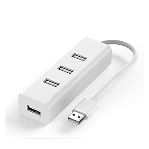 MMBH USB 2.0 USB 3.0 Multi-USB Splitter Extender Multi-USB 3 Interruptor de encendido/apagado Adaptador de CA Divisor de Cable Adaptador de CA Adecuado para PC Notebook (Color: USB 2.0)