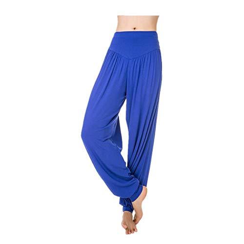BEIXUNDIANZI Frauen Weiche Yoga Pilates Pluderhosen Hippie Hosen Bloomer Hosen Leggings Lounge Für Frauen Hosen Lange Baggy Yoga Hosen Blau 1 2XL