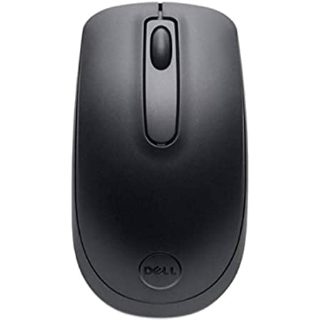Dell Wireless WM118, Easy Plug and Play, 2.4 GHz RF, Optical LED Sensor, 1000 dpi, 3 Buttons, up to 12 Months Battery Life Mouse with 1 Year Advanced Exchange Service, Black