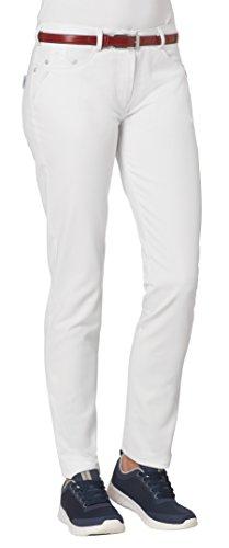 clinicfashion 10613035 Slim Stretch Jeans Hose Damen weiß, Normalgröße, Baumwolle Stretch, Größe 42