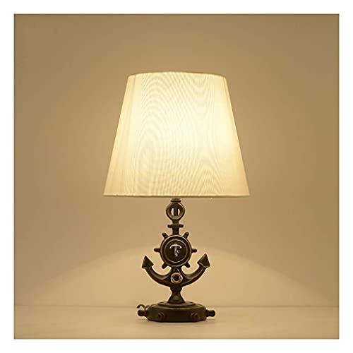 Lámpara de dormitorio Lámpara de mesa Ancla Estilo vintage Lámpara de mesa de luz Lámpara de mesita de noche Lámparas de mesita de noche Lámparas de escritorio simples Dormitorio Sala de estar Lá