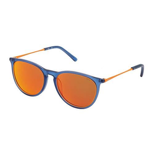 Fila - Gafas de sol SF9246 955R 53-19-145 unisex azul mate transparente lentes multicapa red polarizada