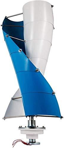 Fangfang Turbina de Viento, Generador de Viento Vertical bajo par de 400w for Techo top12v 24v 48v con Free MPPT 12V 24V Aerogenerador Controlador,Kit (Color : 24v)