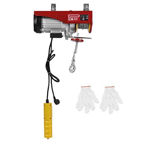 Polipastos Electricos Elevador Eléctrico Herramienta de Elevación de Carretilla Elevadora Duradera Montacargas Cabestrante para Garage y Levantar Herramientos Pesados (800KG)