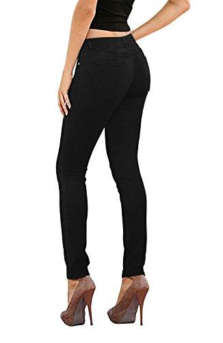 Hybrid & Company Womens Super Stretch Jeans P26131SK Black 5