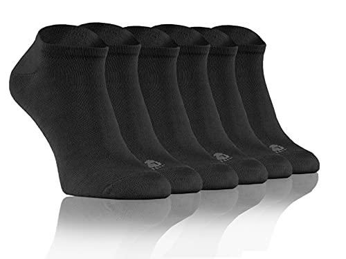 Sesto Senso Calcetines de Bambu Sneakers Cortos Mujer Hombre 3 Pares Pack 36-37 Grafito