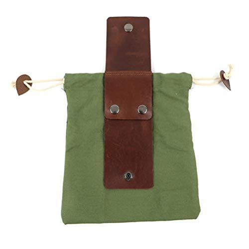 Holmeey Bolsa de Lona Bushcraft, Bolsa de Almacenamiento Impermeable con cordón, Bolsa de alimentación Multiusos Bolsa de Herramientas para Viajes Camping