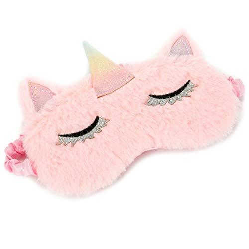 FORLADY Schlafmaske Frauen Unicorn Augenmaske Plüsch Cartoon Shade Augenmaske Shading Für...