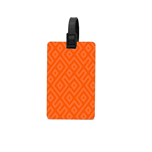 Orange Flowers with Stripes Luggage Tags Travel Accessories Suitcase Tags Identifiers Business ID Tags Baggage Tags for Luggage Good md36911