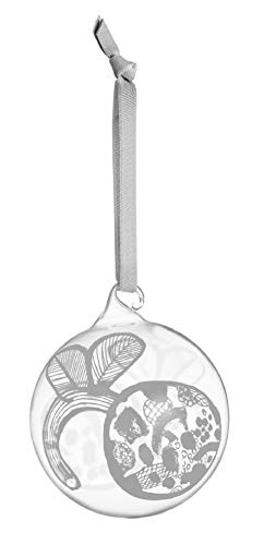Iittala 2020 Oiva Toikka Flower Christmas Ball Ornament, Glass