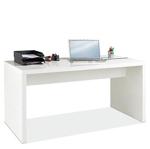 Schreibtisch Hochglanz Weiß